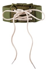 Puma Women's Fenty By Rihanna Lace Up Choker Olive Branch Vanilla