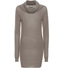 Rick Owens Cashmere Sweater Dress Grey