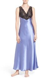 Christine Lingerie Women's Lace And Silk Nightgown