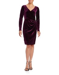Vince Camuto Solid Ruched Dress Wine