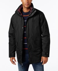 Izod Men's Systems Ski And Snowboard Hooded Jacket Black