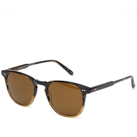 Garrett Leight Brooks Sunglasses Java Drift And Brown Polarized