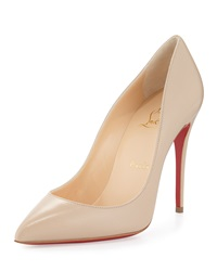 Christian Louboutin Pigalle Follies Low Cut Point Toe Red Sole Pump Blush 1