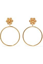 Dolce And Gabbana Gold Tone Clip Earrings One Size
