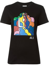 Au Jour Le Jour Multicoloured Print T Shirt