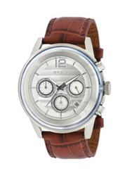Breil Milano Stainless Steel Chronograph Watch Stainless Steel Brown