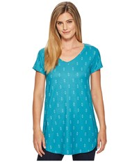 Fig Clothing Lox Tunic Obsidian Turquoise Blue
