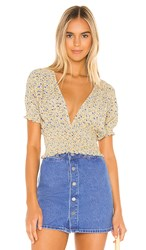 Faithfull The Brand First Light Top In Yellow. Medina Floral