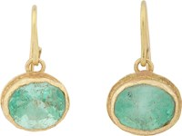Judy Geib Women's Colombian Emerald And Gold Drop Earrings No Color