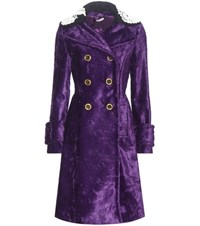 Miu Miu Faux Fur Coat Purple