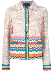 Missoni Buttoned Jacket Brown