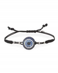 Pippo Perez Pull Cord Bracelet With Blue Sapphire And Diamond Fatima Eye