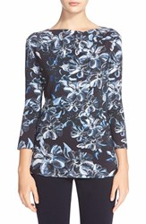 Women's St. John Collection 'Island Floral' Print Jersey Tee