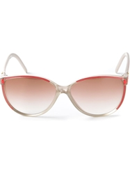 Balenciaga Vintage 80S Bi Colour Sunglasses Nude And Neutrals