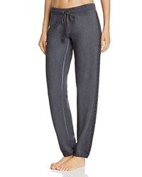 Pj Salvage Crochet Trim Sweatpants Charcoal
