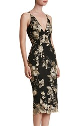 Dress The Population Women's 'Lucy' Embroidered Midi