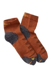 Keen Olympus Lite 1 4 Crew Sock Orange
