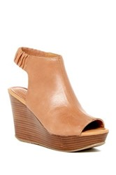 Kenneth Cole Reaction Sole Chick Platform Wedge Sandal Brown