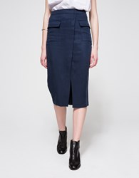 Won Hundred Hart Skirt Navy