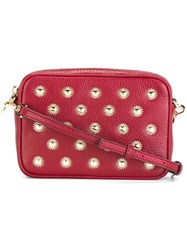 Michael Michael Kors 'Jet Set Travel' Studded Crossbody Bag Red