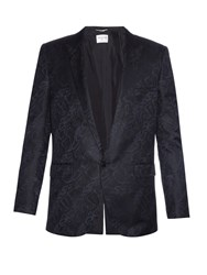 Saint Laurent Jacquard Satin Blazer