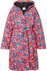 Vetements Oversized Quilted Floral Print Shell Coat Pink