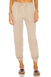 Monrow Patch Pocket Jogger Taupe