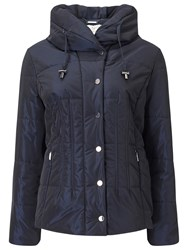Jacques Vert Short Puffer Jacket Navy