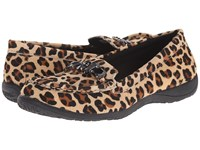Vionic With Orthaheel Technology Charm Pacific Loafer Tan Leopard Women's Slip On Shoes Animal Print