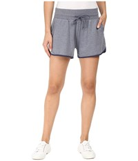 Alternative Apparel Vintage Sport French Terry Track Shorts Vintage Navy Navy Women's Shorts Gray