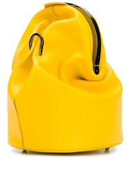 Max Mara Cross Body Bucket Bag Yellow