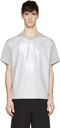 Msgm Heather Grey Coated Toilet Paper Edition T Shirt