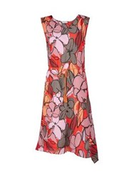 Paul By Paul Smith Floral Twisted Dress Coral