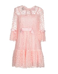 Edward Achour Short Dresses Pink