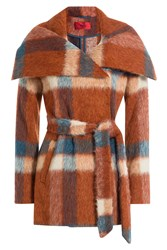 Hugo Printed Coat With Wool Mohair And Alpaca Gr. S