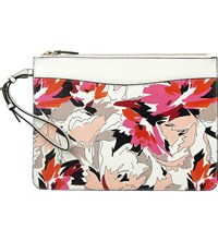 Lk Bennett Robyn Floral Print Leather Pouch Pri Pink