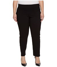 Krazy Larry Plus Size Pull On Ankle Pants Black Women's Dress Pants