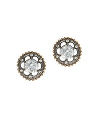 Jenny Packham Round Stud Earrings Mixed Metal