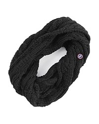Canada Goose Cable Knit Loop Scarf Black