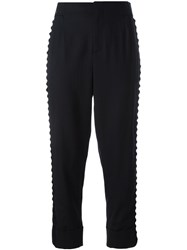 A.F.Vandevorst Pinstripe Cropped Trousers Blue