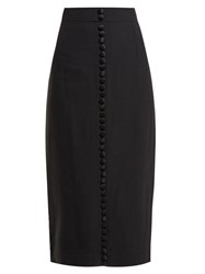 Goat Heda Crepe Pencil Skirt Black