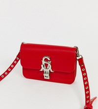 Steve Madden Bnadia Red Cross Body Bag With Stud Detail