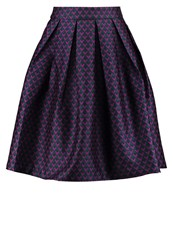 Louche Joyous Pleated Skirt Green Purple