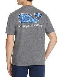 Vineyard Vines Fish Whale Logo Pocket Tee Gray Heather