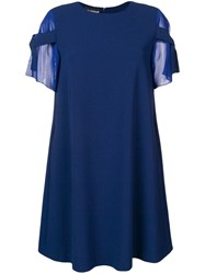 Boutique Moschino Shift Dress With Bow Sleeves Blue