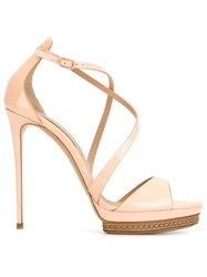 Casadei Stiletto Sandals Pink And Purple