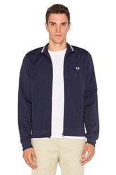 Fred Perry Funnel Neck Track Jacket Blue
