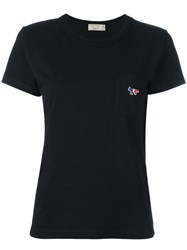 Maison Kitsune Fox Pocket T Shirt Black