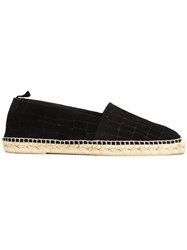 Saint Laurent Classic Slip On Espadrilles Black