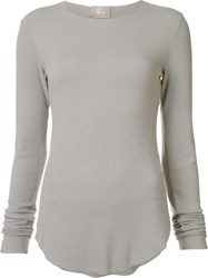 Lost And Found Ria Dunn Longsleeved Fitted T Shirt Grey